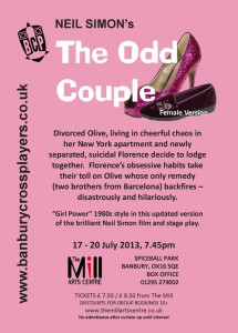 The Odd Couple (Female Version) Flyer