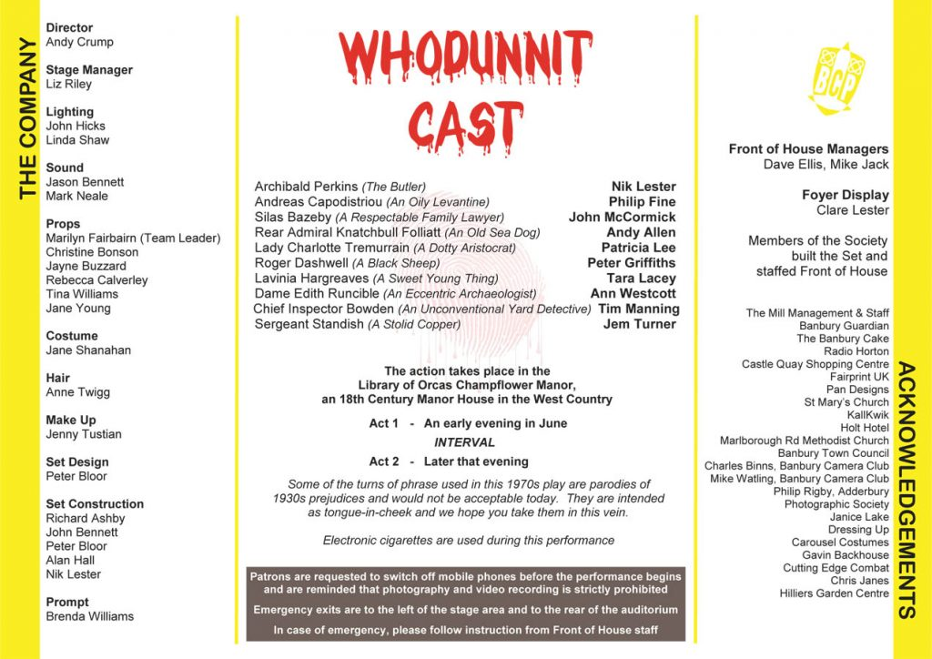 Whodunnit Programme