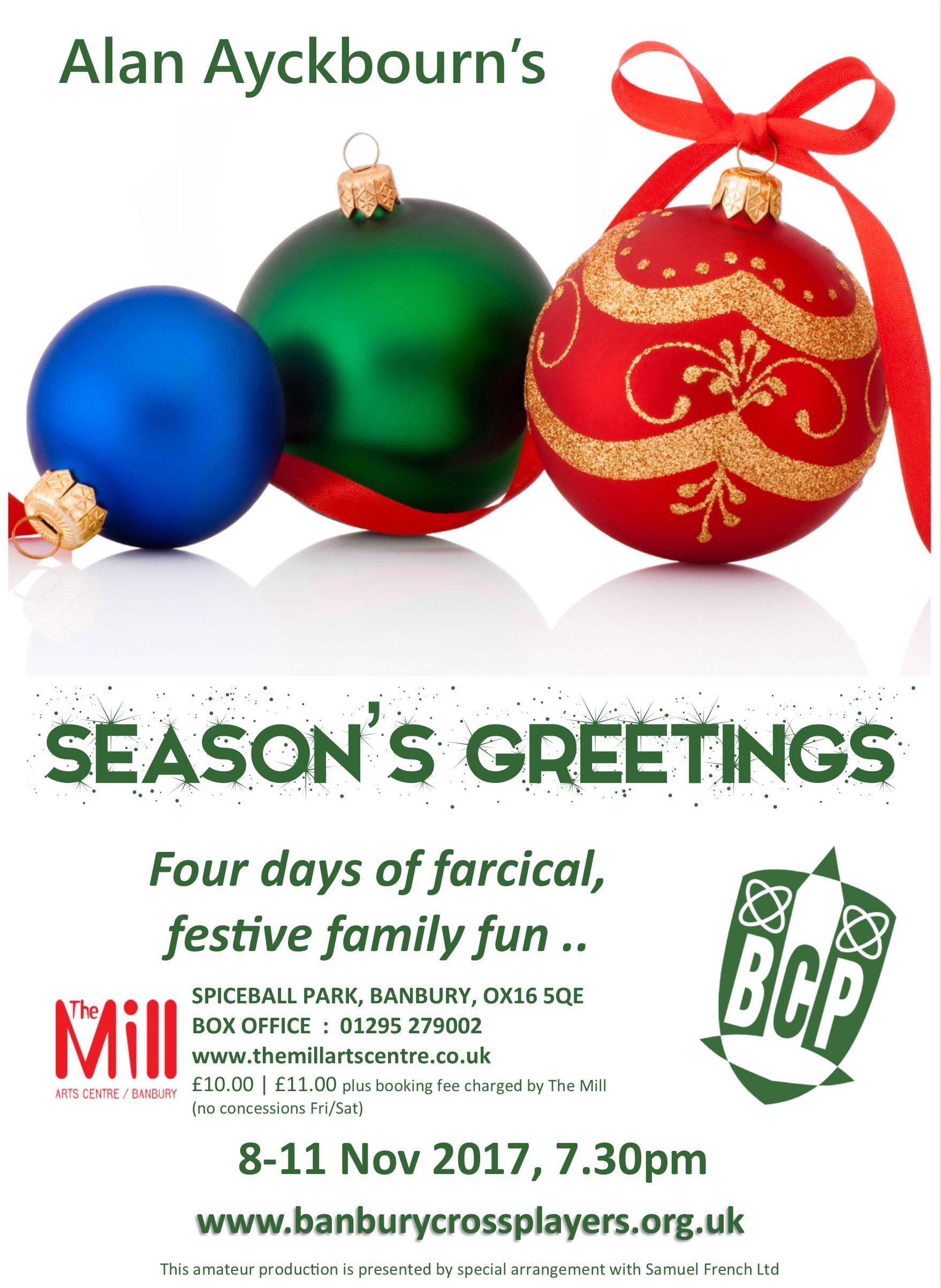 Seasons greetings banbury cross players seasons greetings flyer m4hsunfo