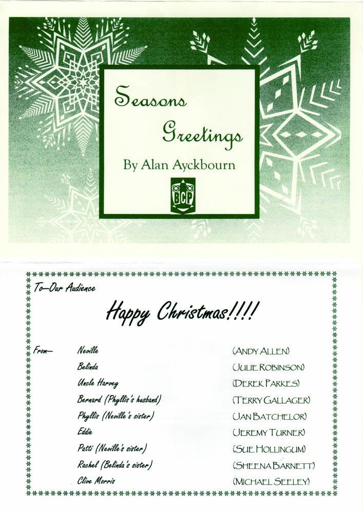 Season's Greetings 2001 Programme