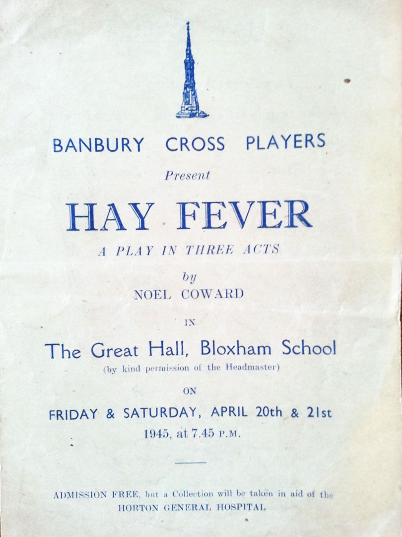Past Productions Hay Fever 1945