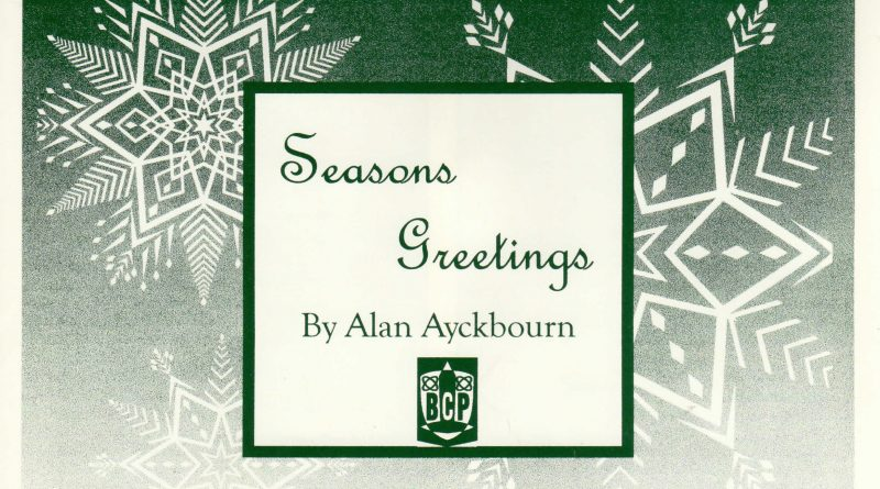 Season.s Greetings Programme Cover