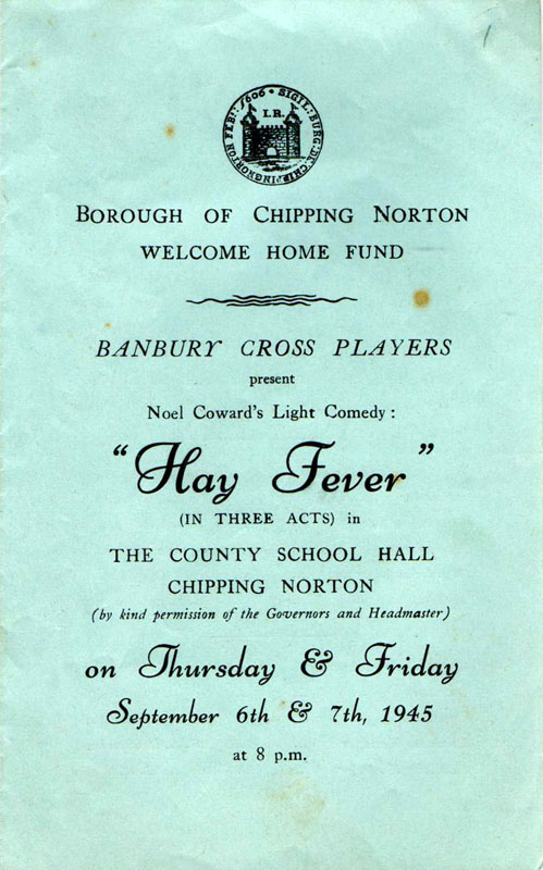 Hay Fever - Chipping Norton 1