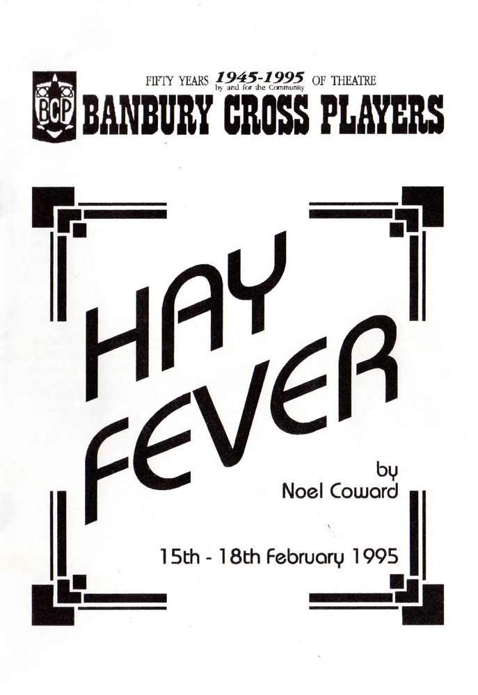 Hay Fever programme p1