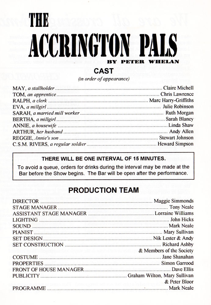 Programme page 2