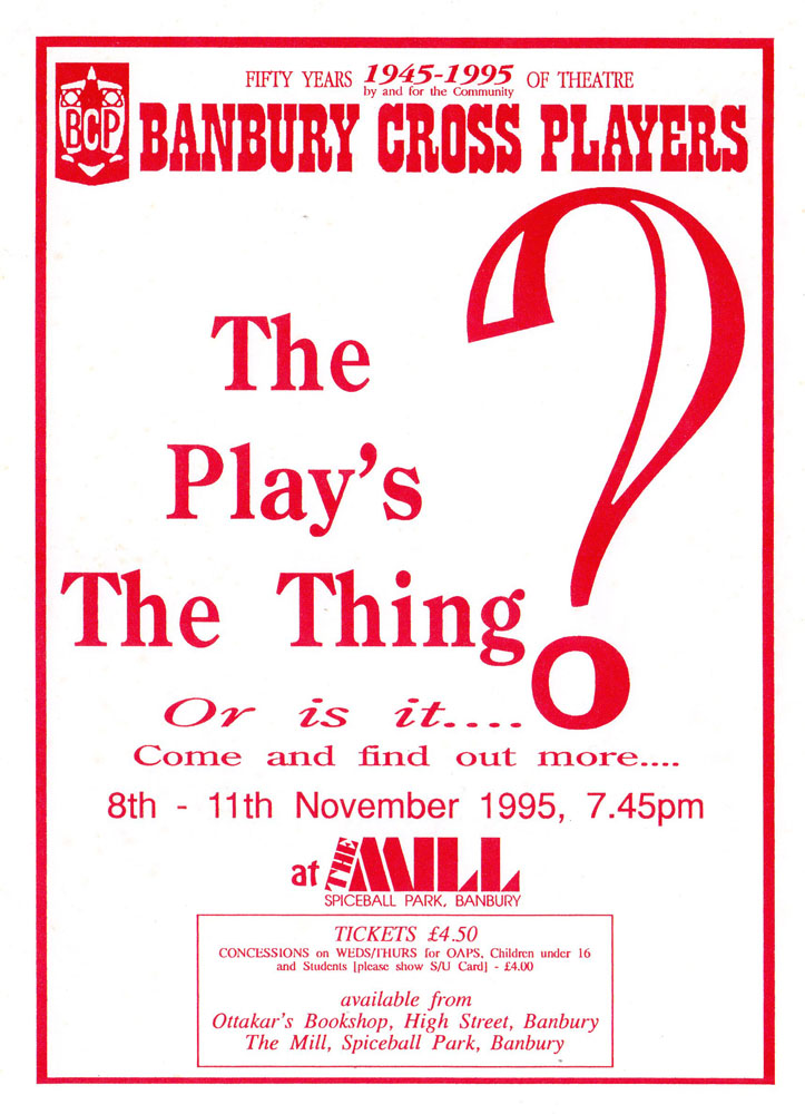 The Play's the Thing flyer