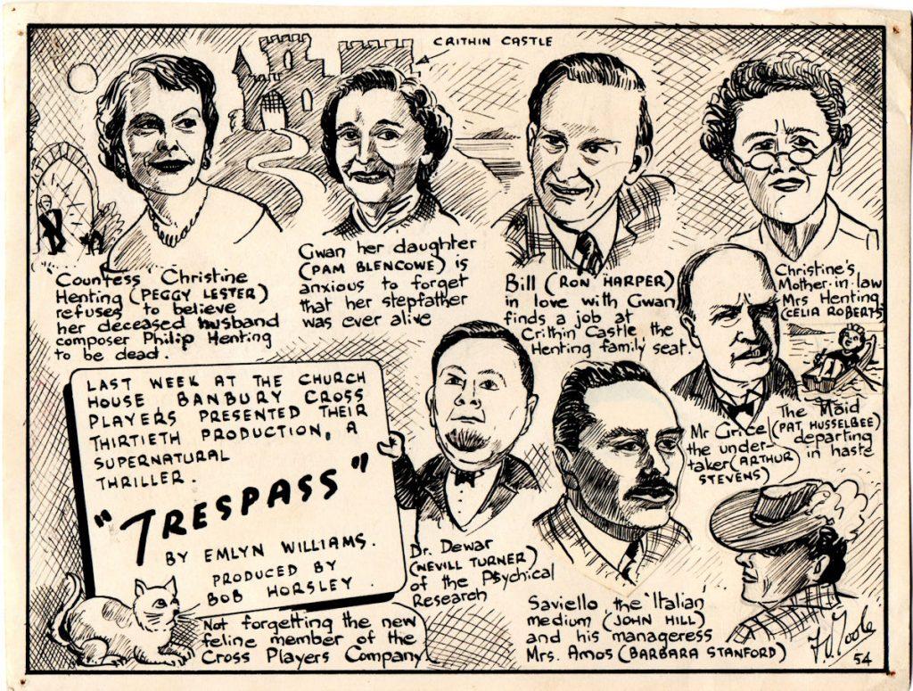 Trespass 1954 drawings